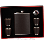 FLASK Set22 Leather Wrap 8oz