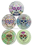 ASHTRAY Glass Skull Single