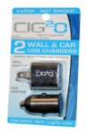 CIG 2 O Wall/Car Charger