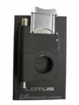 LOTUS 100 Cigar Cutter Black