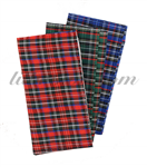 J NORMAN Plaid Rollup Pouch