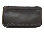 J NORMAN Black Zip Pouch