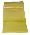 MT PVC Yellow Zip Pouch